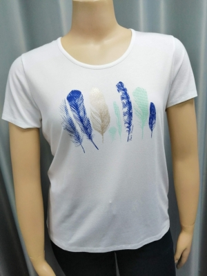 22 T SHIRT with plume logo
